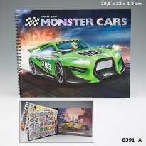 TOP Model TM8391 Create your Monster Cars Colouring Book