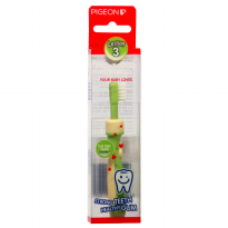 Pigeon Training Toothbrush Lesson - 3 Lime Green - Sikat Gigi Bayi Step 3 - PR050506