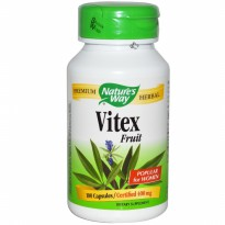 Nature's Way Vitex (Chaste Tree), 400 mg, 100 Caps (kesuburan wanita)
