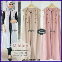 NF - BAJU MURAH MILITARY VEST - MRAH WANITA - CARDIGAN - OUTERWEARCREAM