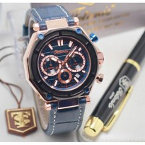 Termurah! Jam Tangan Pria / Cowok Tetonis Original TN1215 Leather Blue Rose