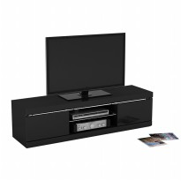 Prissilia Delacroix TV Rack Black Gloss