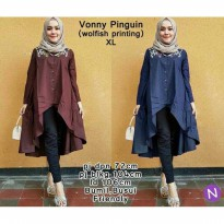 VONNY PENGUIN BUMIL BUSUI YAN BAHAN WOLFISH PRINTING FIT TO XL