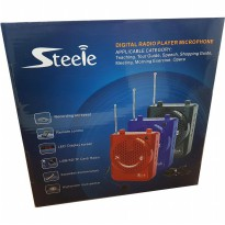 Portable Audio Waist Band Steele Microphone / digital radio player mic