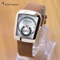 Termurah! Jam Tangan Wanita / Pria Hush Puppies Ninja Leather LIght White Rose