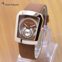 Termurah! Jam Tangan Wanita / Pria Hush Puppies Ninja Leather LIght Brown Rose