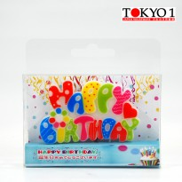 Tokyo 1 lilin ulang tahun Pattern-Pallette Candle 441159