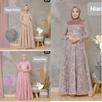 Dress Muslim Gamis Pesta Lebaran Mewah Jumbo Size XL Niara as