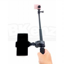 Monopod Tongsis Titanium Anti Karat With Viewfinder Holder