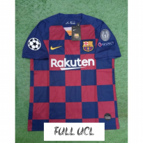 FULL PATCH UCL JERSEY BOLA BARCELONA HOME 2019-2020 GRADE ORI
