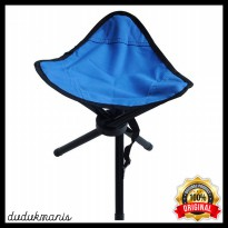 Kursi Lipat Memancing Folding Three Legged Beach Stool Chair PER-538