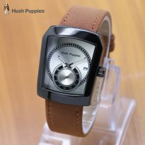 Termurah! Jam Tangan Wanita / Pria Hush Puppies Ninja Leather LIght Brown Black