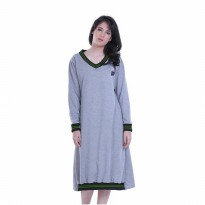 Dress Wanita / Dress Half Ribs abu Hurricane H 3043 murah original