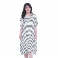 Dress Wanita / Dress Side Pocket putih Hurricane H 3223 murah ori