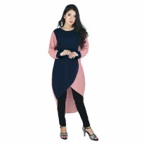Dress / Atasan Kasual Wanita katun Biru Raindoz RKA 011 murah original