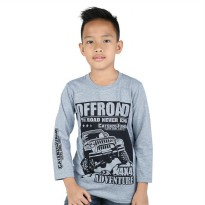 Kaos / T-Shirt Distro Anak Laki katun Abu Misty Catenzo Junior CPS 064