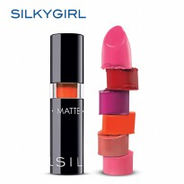 SilkyGirl Go Matte Lip Color Carmine Free With Extract Shea Butter, Safflower Oil (6 option color)