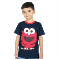 Kaos / T-Shirt Distro Anak Laki katun Biru Navy Catenzo Junior CPS 062