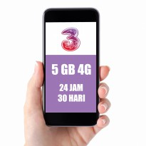 Tri Three Voucher 5GB (4G), 24Jam, 30 Hari