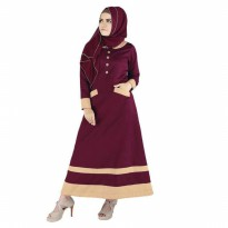 Gamis / Long Dress Wanita katun Merah Raindoz RDG 079 murah original