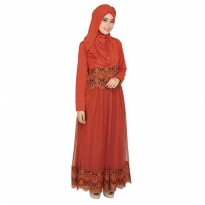 Gamis / Long Dress Wanita Merah Bata Raindoz ROK 021 murah original