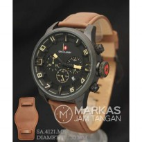 Jam Tangan Pria Swiss Army SA-4121 Chronograp model Expedition Leather
