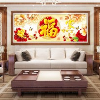 DIY Diamond Painting 5D. Rejeki Ikan gold kupu-kupu - 120x45 cm. D62