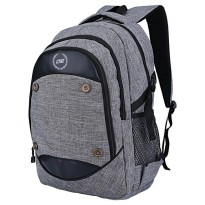 Tas Ransel / Backpack Casual Laptop Pria + Rain Cover  Abu Catenzo ST