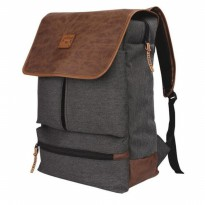 Tas Ransel / Backpack Casual Laptop Pria + Rain Cover  Abu Catenzo YD