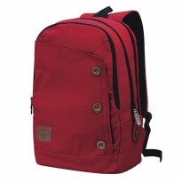 Tas Ransel / Backpack Casual Laptop Pria + Rain Cover  Merah Catenzo S