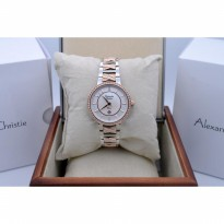 Alexandre Christie AC 2680 Silver Rose Gold for Ladies Original