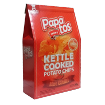 Papatos Hot and Spicy Potato Chips 80g