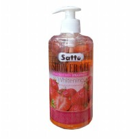 Satto Shower Gel Whitening Strawberry 500ml