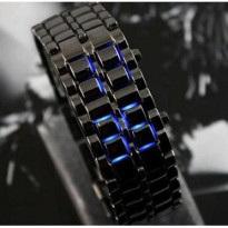 1 Samurai Iron Jam Tangan LED Tokyoflash Tokyo Flash Black Blue Hitam Biru Watch