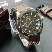 Jam Tangan Pria Swiss Army Sport Man Chronograph Leather_Super AAA