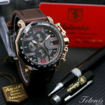 Termurah! Jam Tangan Pria / Cowok Tetonis Original TN830 Dark Brown Ring Black