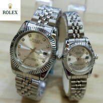 Promo Jam Tangan Rolex Oyster SS White Couple