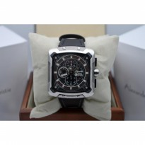 Alexandre Christie AC 3030 Automatic Silver Black Leather Black for Me