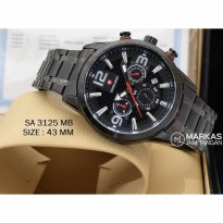 Jam Tangan Pria Swiss Army SA-3125 Chronograph Stainless Steel_Super