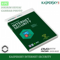 Kaspersky Internet Security 2021 Original 4 PC 1 Tahun (Ampuh Mengatasi Virus Ransomware)