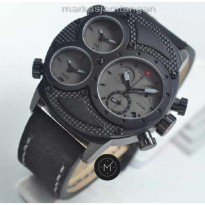 Jam Tangan Pria Swiss Army SA-2178 Triple Time Black Leather ORIGINAL