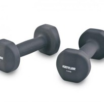 KETTLER Neoprene Dumbell (10kg/pair) Grey