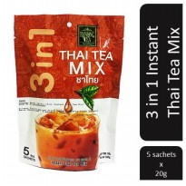 [POP UP AIA] Ranong Tea 3 In 1 Lemon Lime Thai Tea Mix - 5 Sachets