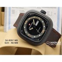 Jam Tangan Pria Swiss Army Day-Date Leather