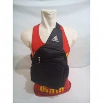 TAS SELEMPANG GYM BAG FITNESS ONE MORE HITAM