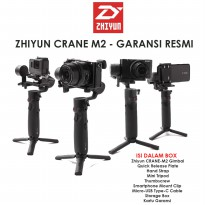 ZHIYUN CRANE M2 GIMBAL 3-AXIS FOR KAMERA ACTION CAM SMARTPHONE - ORIGINAL