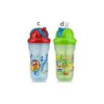 Nuby Active Sipeez Insulated Flip It Straw 270ml -Botol Minum Anak Anak