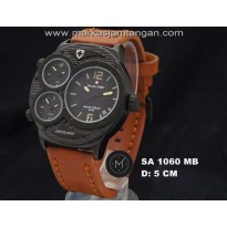 Jam Tangan Pria Swiss Army SA-1060 Triple Time Leather