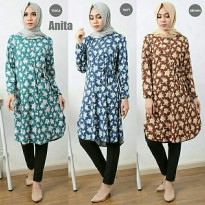 Anita Flower Tunik Navy
