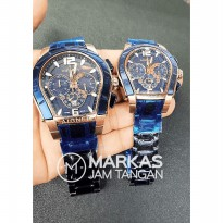 Jam Tangan Couple Aigner Palermo Chronograph Stainless Steel Watch